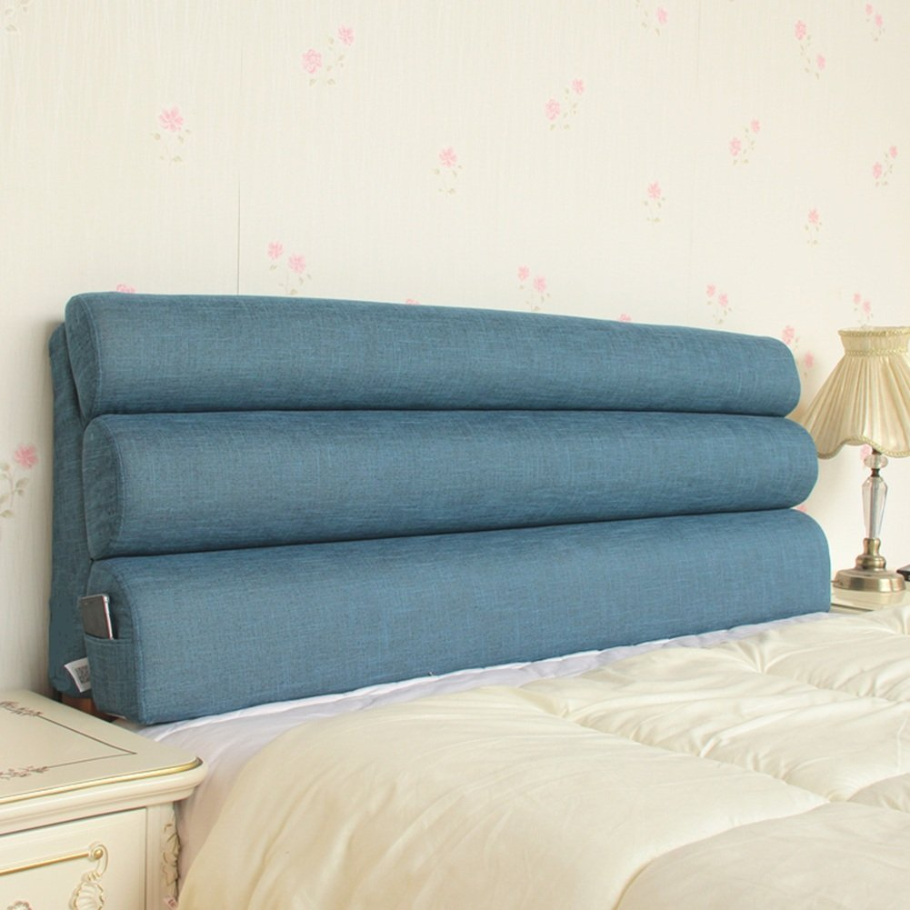 QIANGDA クッション ベッドの背もたれフルカバー スポンジを充填する ソファソフト枕 疲労を緩和し、 7色 6サイズ 利用可能 ( 色 : 濃紺 , サイズ さいず : 203 x 55cm ) B07B9KCY4Y 203 x 55cm 濃紺 濃紺 203 x 55cm