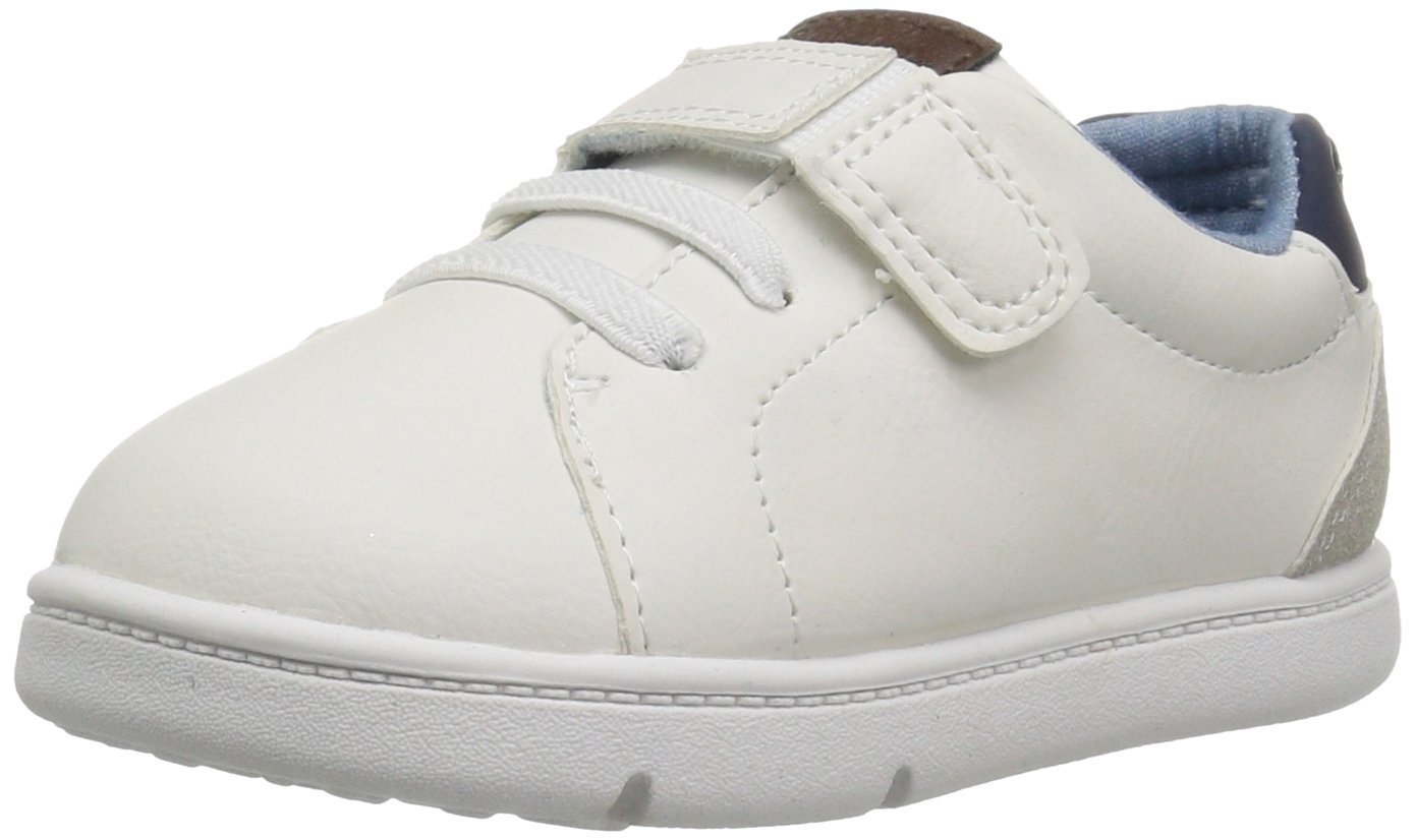Carter's Every Step Baby Park Girl's and Boy's Casual Sneaker, White, 4 M US Toddler
