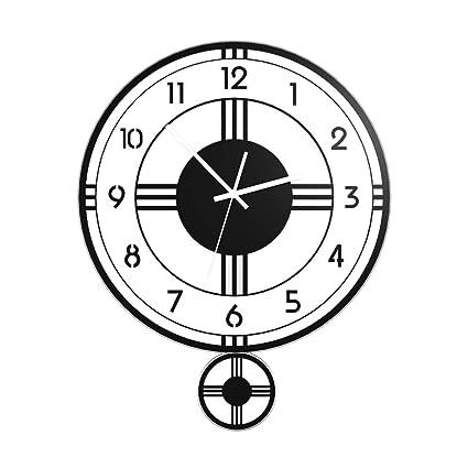 Amazon Com Home Fashion Wall Clock Nordic Creative Living Room