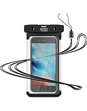 YOSH Custodia Impermeabile Smartphone [Garanzia a Vita] IPX8 Custodia Subacquea per iPhone X XS Max 8 7 plus Samsung Note 8 S9 S8 + Huawei P10 P20 Tutti i Dispositivi Fino a 6.5 Pollici Nuova Versione