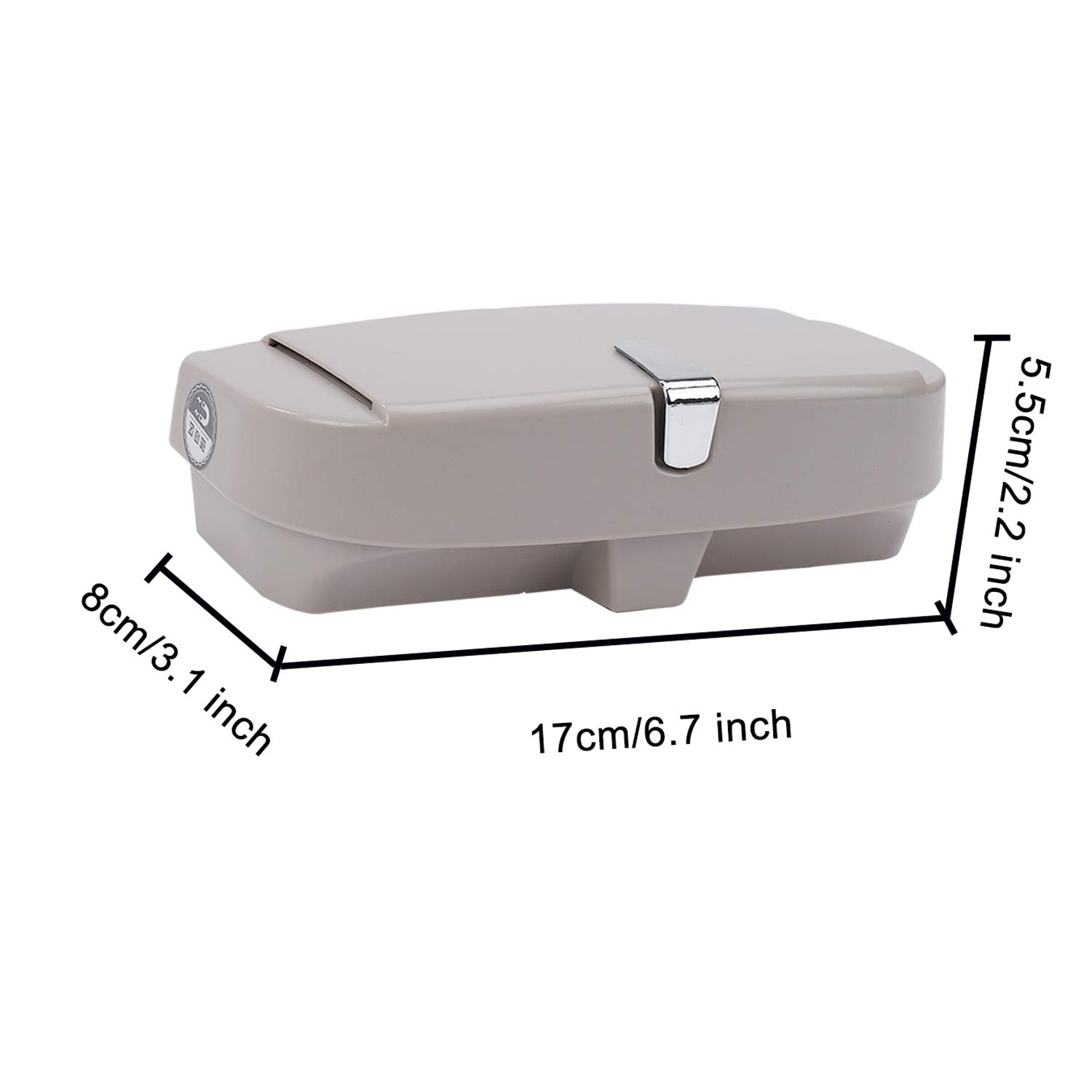 MengH-SHOP Car Glasses Case Universal Sunglasses Storage Box with Magnetic Suction Area and Cards Insertion Area Multifunctional Eyeglasses Organizer for Sun Visor Gray