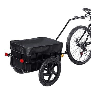 Fahrradanhänger Lastenanhänger Transportanhänger Fahrrad Anhänger Handwagen 70 L
