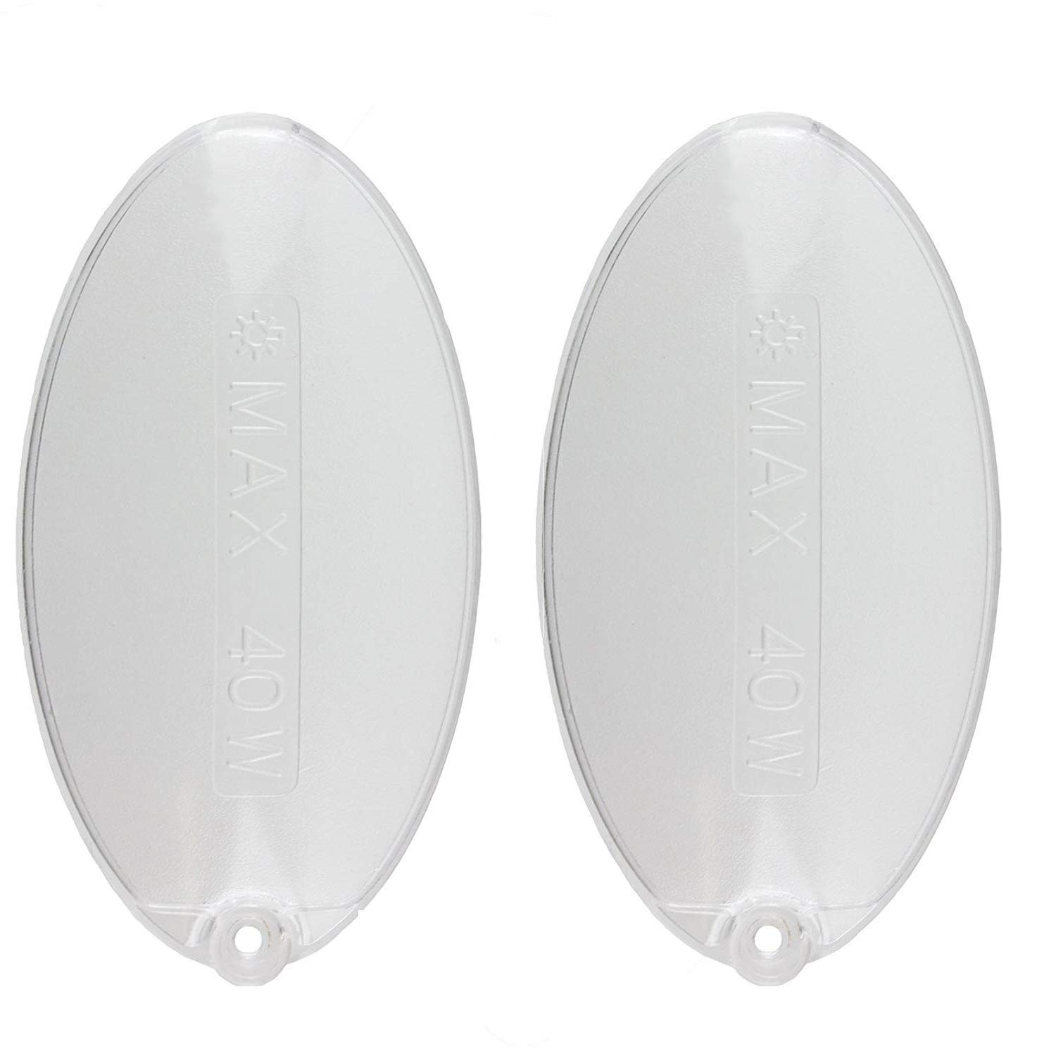 RELIAPART Universal Electrolux, Indesit, Whirlpool, Smeg Oval-Shaped Cooker Hood Bulb Light Diffuser Cover Panel 1330058595 (100mm x 52mm, Pack of 2) Compatible