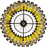 "JinYuZe Spectacular Modern Round Large Wall Lamp,Metal Wheel Colorful Wine Bottles Indoor Wall Sconce in Black,Diameter: 47.2"" (1200mm)"