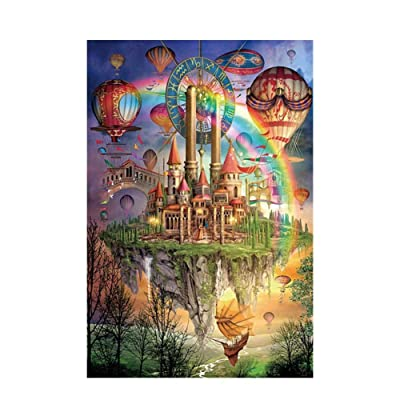 1000 Pieces Jigsaw Puzzles for Kids View Painting for Adults Education Stress Reliever Puzzles Stay at Home (20075-25): Toys & Games