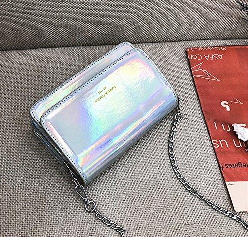Plateado para Plata HCXIN Hombro al Plata Mujer Bolso W6xaxCS4