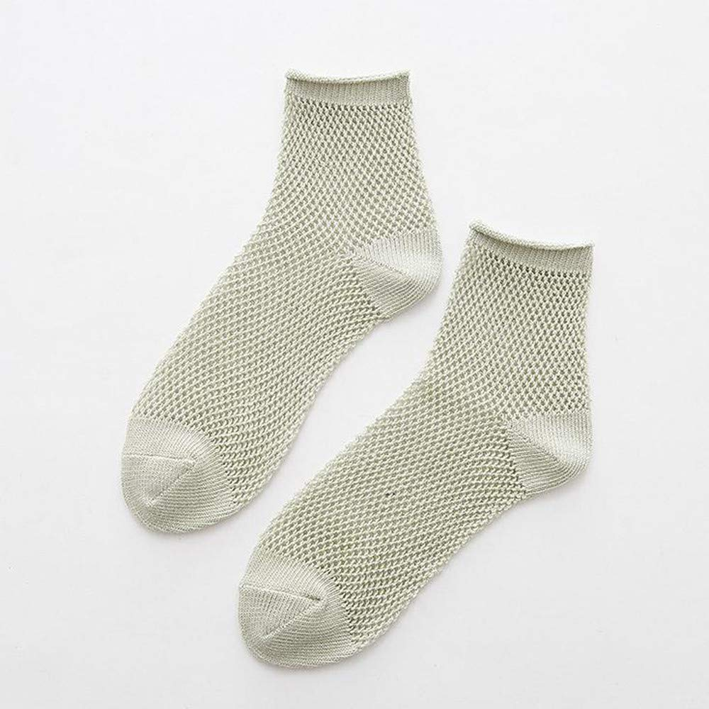 Bolayu Sexy Lady Soft Sock Multicolor Hollow Mesh Socks Breathable Short Tube Womens Socks (Green) by Bolayu (Image #2)