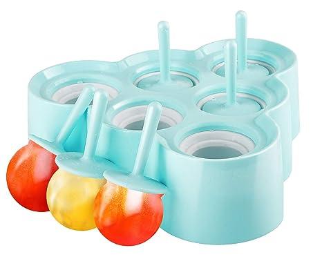Amazon.com: Nuovoware Moldes para helados, [cavidad de 6 ...