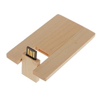 IPOTCH 16gb USB2.0 Flashdrive Pendrive Tarjeta de Madera ...