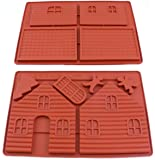 oggibox Silicone Gingerbread and Chocolate House Mold - 2 pcs