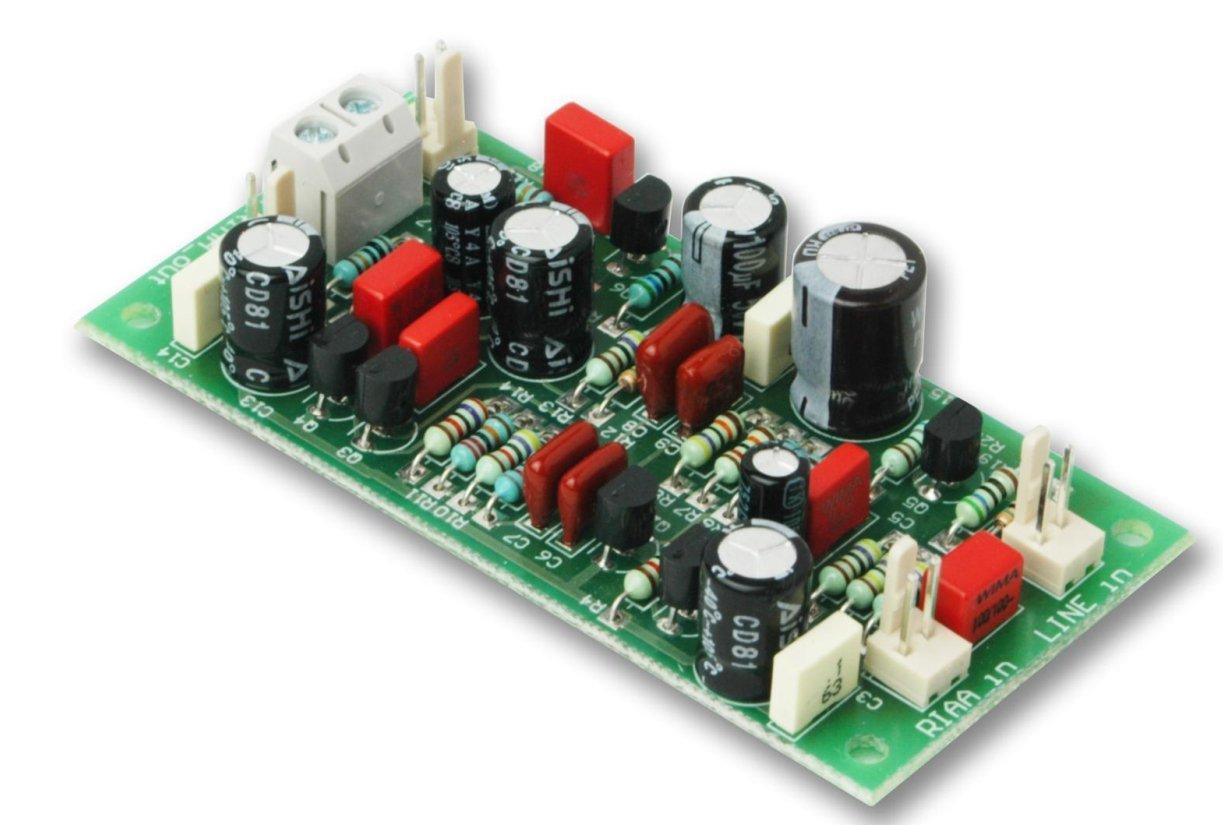 Preamplificatore Giradischi Hi Fi a Fet Phono+Linea Kit Senza Controreazione Audioskeggia