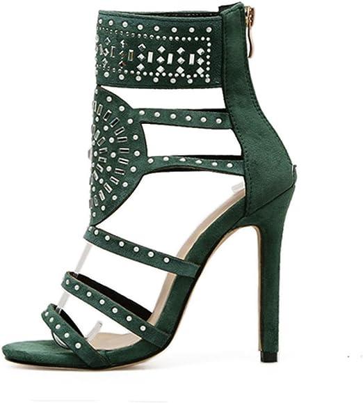 Familizo Talons Pointus pour Femmes, Chaussures à Talons Sandales à Talons Hauts Strass