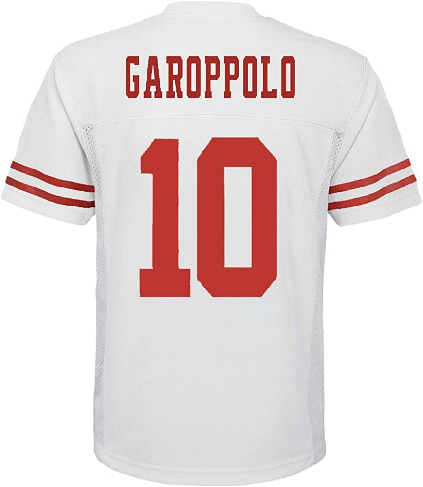 Jimmy Garoppolo San Francisco 49ers #10 White Youth Away Mid Tier Jersey