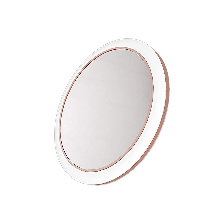 Espejo De Maquillaje Portatil Con Luz Led Carga Inalambrica
