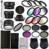 28 in 1 Kit : 52mm Wide Angle Lens + 52mm Precision Pro Digital Wide Converter + 4pz Ring Adapter + 52mm Close-up Lens Filters (+ 1 + 2 + 4 + 10) + 52mm ND Filter (ND2 + ND4 + ND8) + 52mm Neutral Density Filter + 6pcs gradual filter Set + UV Filter + CPL Filter + FLD Filter For Nikon D3X, D800, D700, D600, D300, D300S, D7100, D7000, D5200, D5100, D5000, D3200, D3100, D3000, D90, D80, D70, D60, D50, D40, Pentax K-5, K-50, K-30, LF131