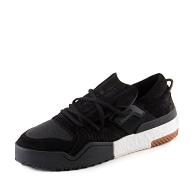 new style 03053 949fa adidas Mens Alexander Wang AW Bball Lo Black Suede Size 12
