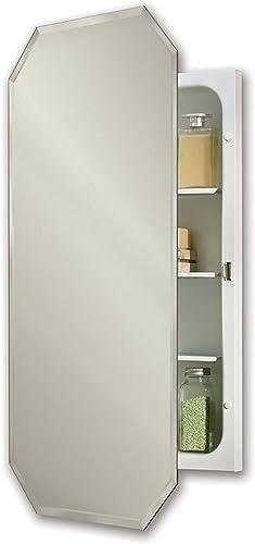 Jensen 1456X Octagon Bevel Mirror 17.375 Medicine Cabinet, 17.37 x 32
