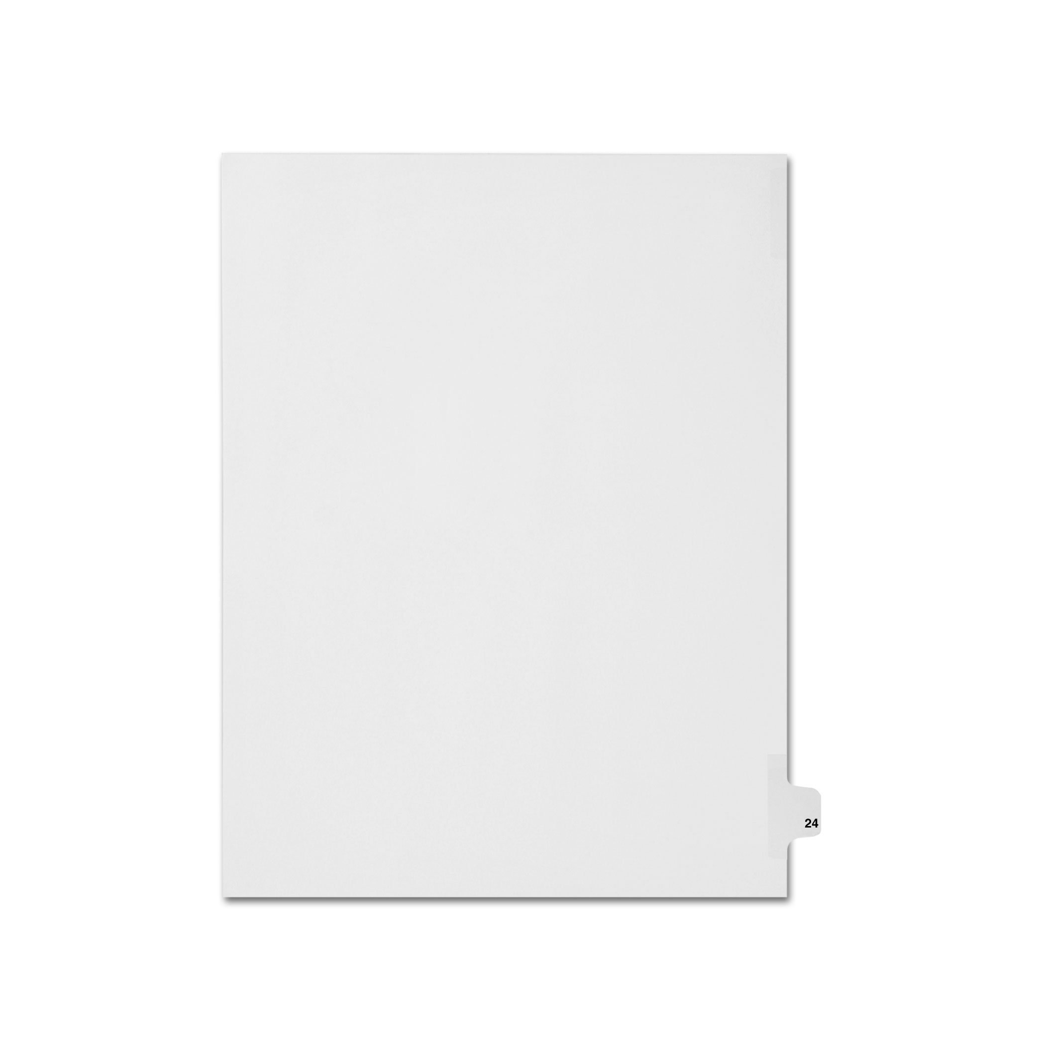 AMZfiling Individual Legal Index Tab Dividers, Compatible with Avery- Number 24, Letter Size, White, Side Tabs, Position 24 (25 Sheets/pkg)
