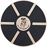 Rocky Workout Wooden Wobble Balance Board by for All Ages. Improve Posture, Physical Therapy, Strengthen Core Muscles, Abs Exercise, Burn Calories and Lose FAT!