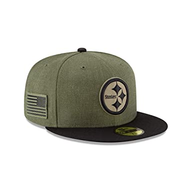 New Era Pittsburgh Steelers On Field 18 Salute to Service Cap 59fifty 5950  Fitted Limited Edition 0f2bb4984