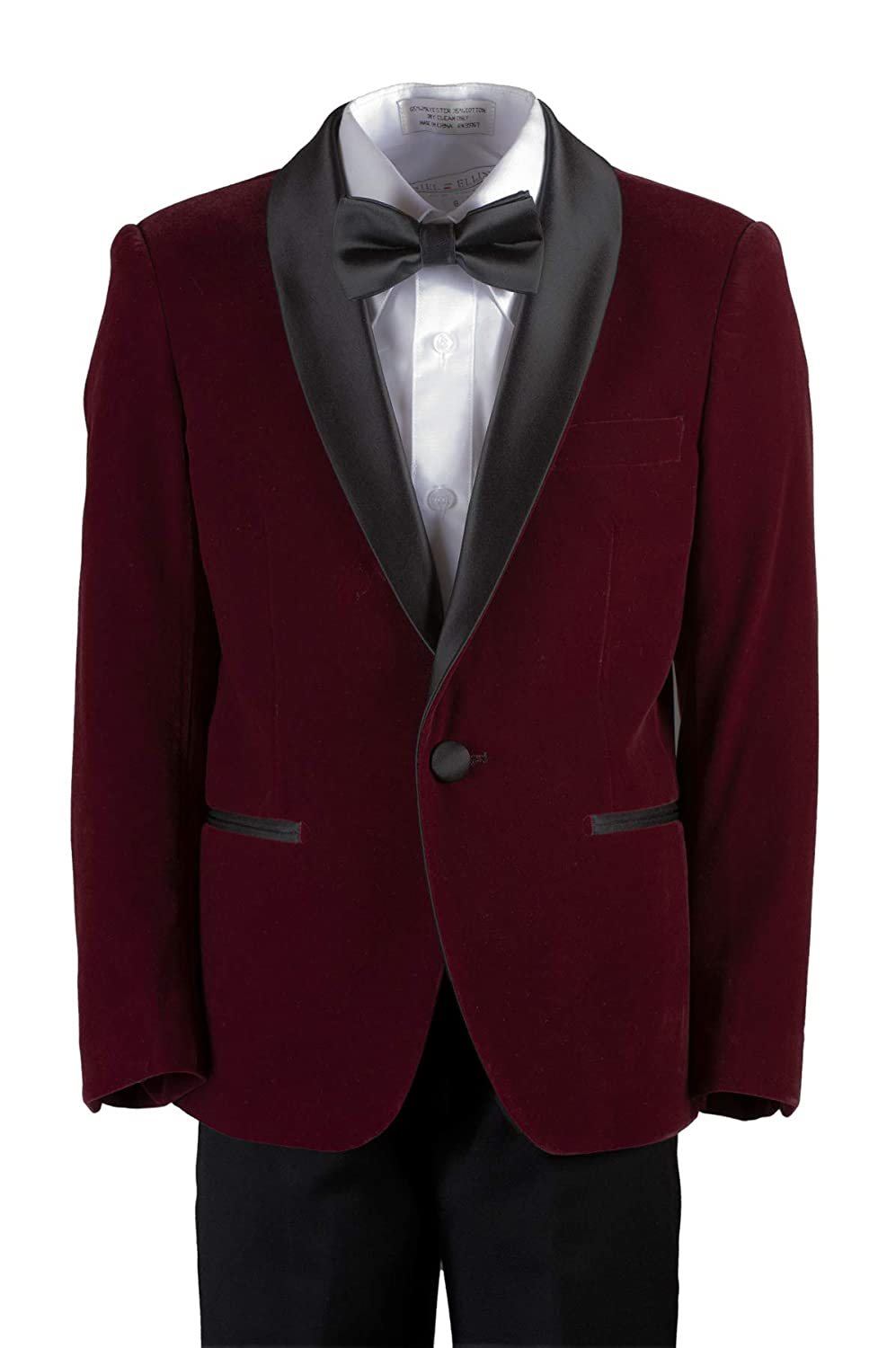Boys Slim Fit Shawl Velvet Dinner Suit in Toddlers to Boys Sizing