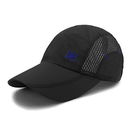 LETHMIK Quick Dry Sports Cap Unisex Sun Hat Summer UV Protection Outdoor Cap  Black b1a5ec1b0ac