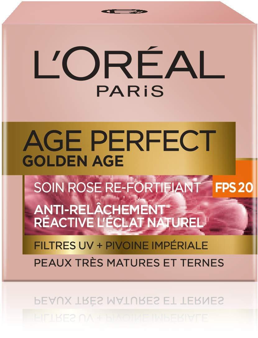 L'Oréal Paris Age Perfect Golden Age Soin Jour Rose Anti-Relâchement & Re-Densifiant FPS20 50 ml L'Oréal Paris