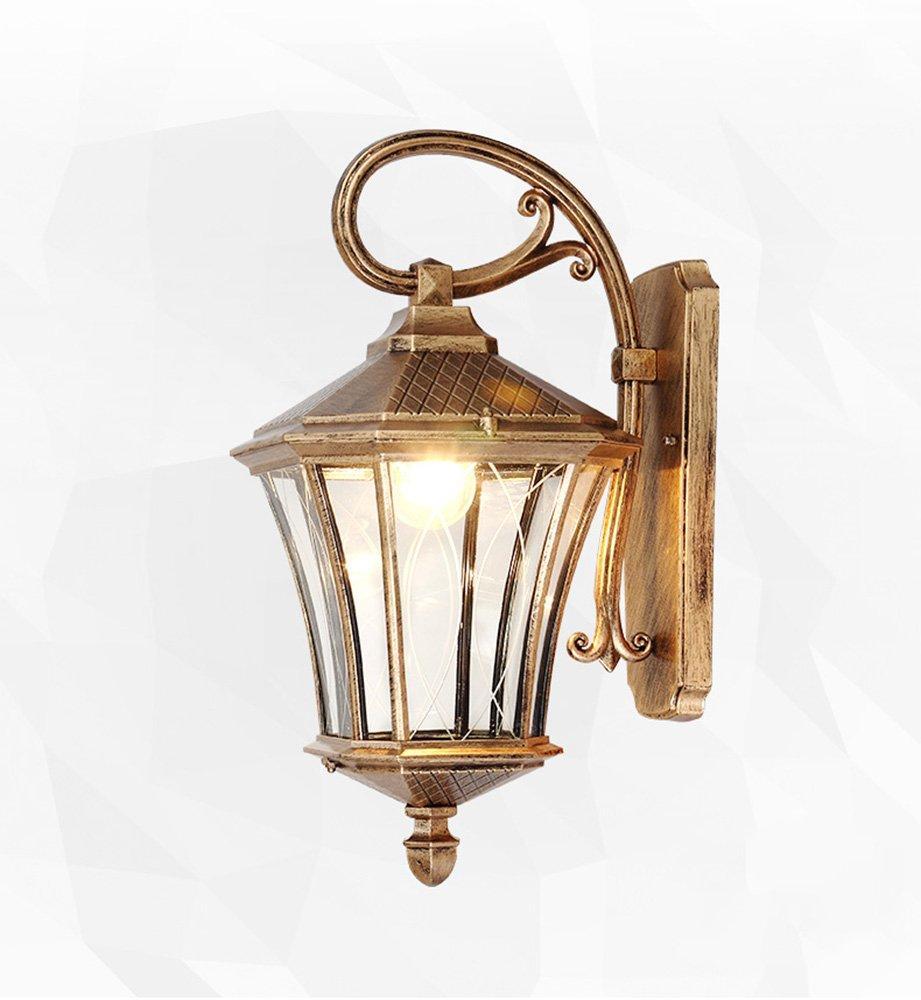 Lampada da parete impermeabile esterna in stile europeo Lampada da parete a cortile a testa singola