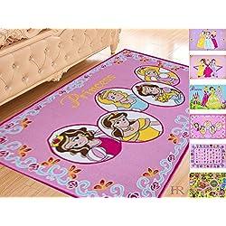 Handcraft Rugs Girls Playroom Rug. Non-Slip/Gel Back.Pink Princess.