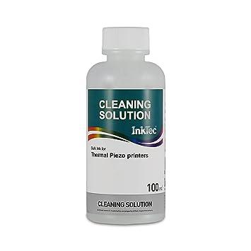 100 ml de LIQUIDO LIMPIADOR para eliminar restos de tinta de la impresora ó el c