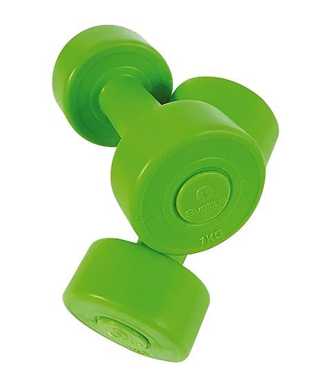 Sveltus - Mancuernas de Cemento, 1 kg (el par), Unisex, Verde, XL ...