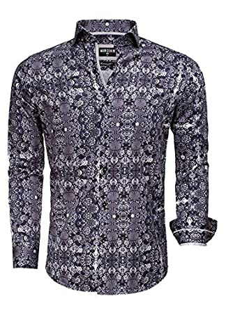 Arya Boy Overhemd.Wam Denim Overhemd Zwart Grijs Barok Size Xl Amazon Co Uk Clothing
