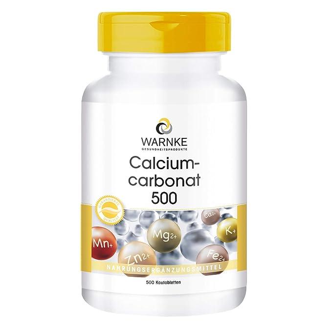 Carbonato de Calcio - Vegano - 500 comprimidos masticables - 188mg de Calcio - Bote grande: Amazon.es: Salud y cuidado personal