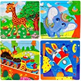 Wooden Jigsaw Puzzles Set for Kids Age 2-5 Year Old Animals Preschool Puzzles