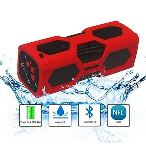 Waterproof Sport Speaker, Portable Wireless Stereo Bluetooth Speaker With  3600mAh Power CSR4.0 IPX56