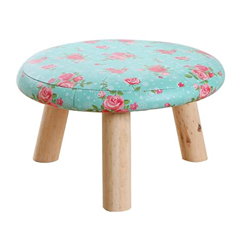 Charmant XSHION Foot Stools, Round Ottoman Foot Rest Wipeable Small Wood Round With  Legs Stool For