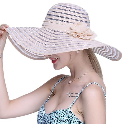 Sombreros LINGZHIGAN Sol Vacaciones de Verano en la Playa ...
