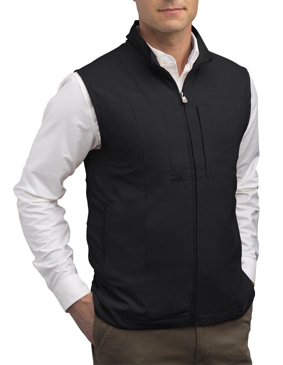 SCOTTeVEST Men's RFID Travel Vest - 26 Pockets – Travel Clothing (Large Tall, Black)