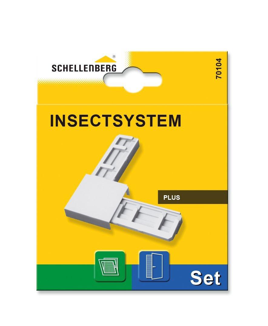 Schellenberg 70105 Eckverbinder-Set Plus für Insektenschutzfenster und Insektenschutztüren – anthrazit, 1 Stück