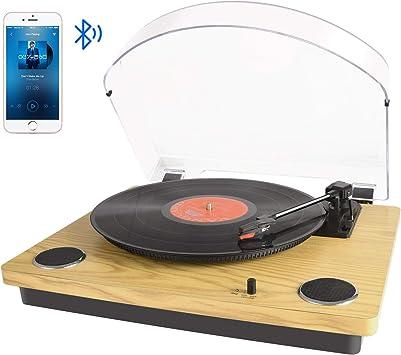 Tocadiscos Bluetooth para Vinilo con Altavoces estéreo, conversión ...