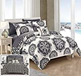 Black and Tan Comforter Sets King Chic Home 8 Piece Barcelona Super Soft microfiber REVERSIBLE King Comforter Set Black