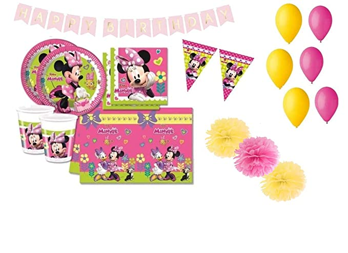 Decorata Party Minnie coordinó la Mesa de cumpleaños Kit 46f ...