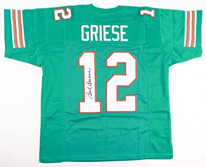 Bob Griese Autographed Signed Miami Dolphins Blue Jersey Memorabilia  supplier