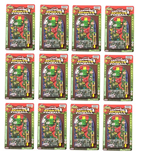 Mini Sports Theme Maze Pinball for Party Favor (Pack of 12) (Games Pinball Sports)