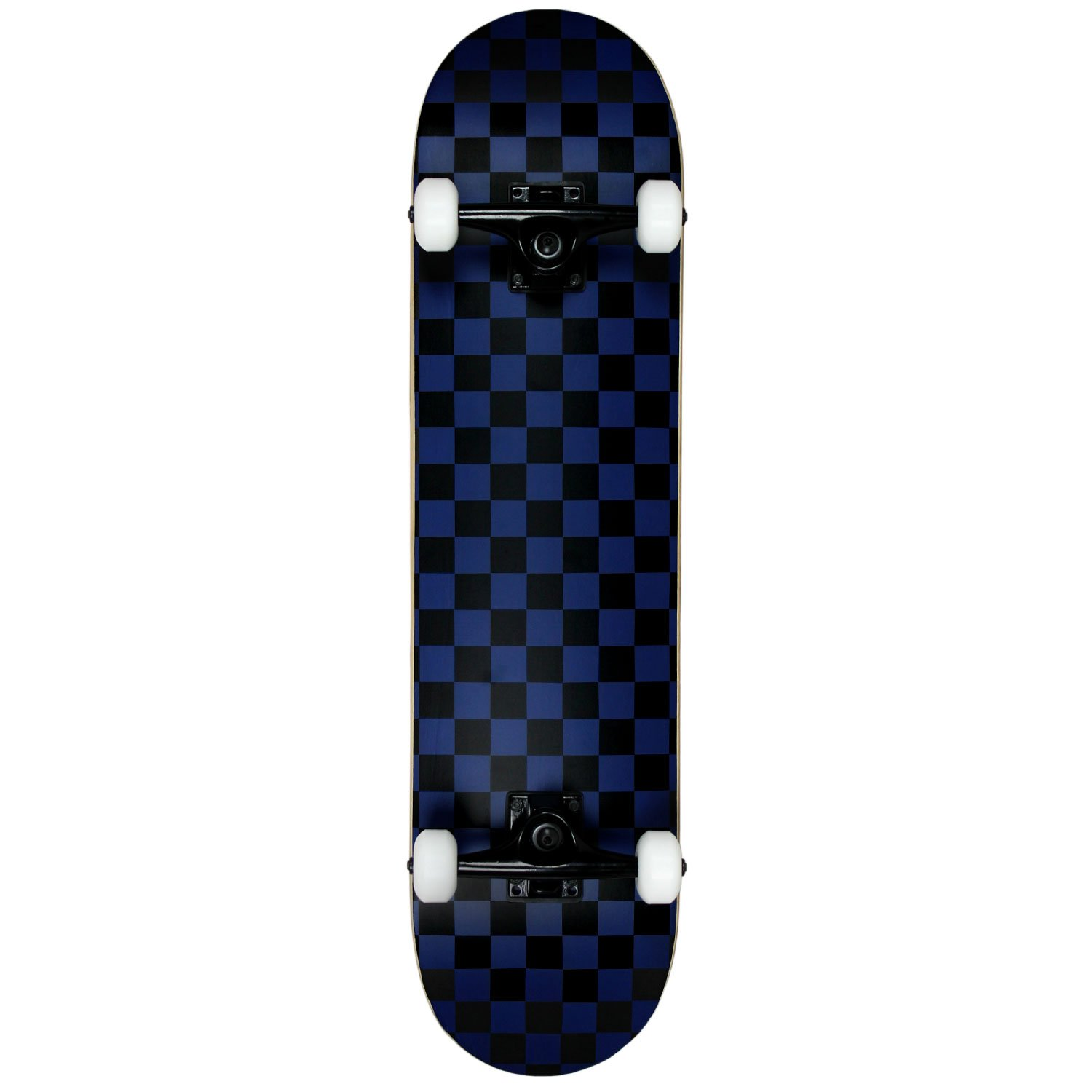 4d5fd369849 Amazon.com   Krown PRO Skateboard Complete Pre-Built Checker Pattern  Black Blue 7.75