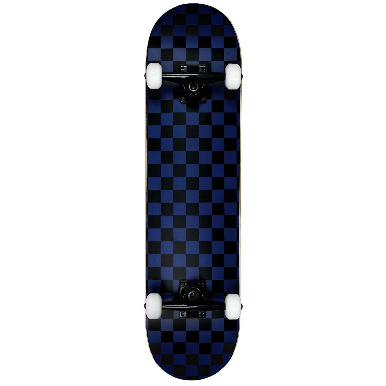 Krown KRRC-57 Rookie Checker Skateboard, Black/Blue, 7.75''