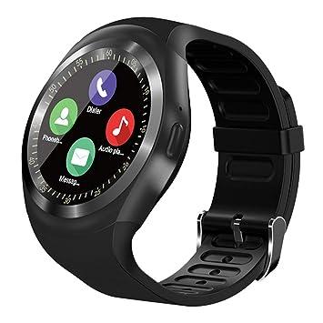 Montre Connectée SN05 Bluetooth Smartwatch Rond Montre Sport Carte Sim de Soutien Podomètre Sommeil Calories Compatible