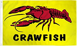 Crawfish Flag Restaurant Banner Advertising Pennant Food Sign 3x5 Indoor Outdoor
