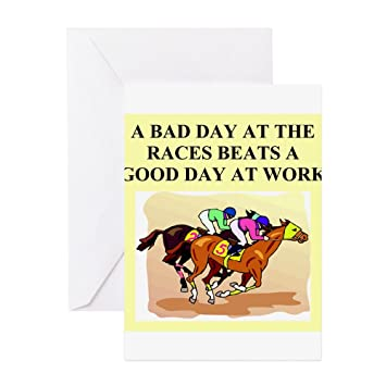 Cafepress Horse Racing Gifts T Shirts Greeting Card Greeting