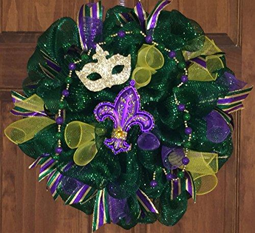 Mardi Gras Deco Mesh Wreath
